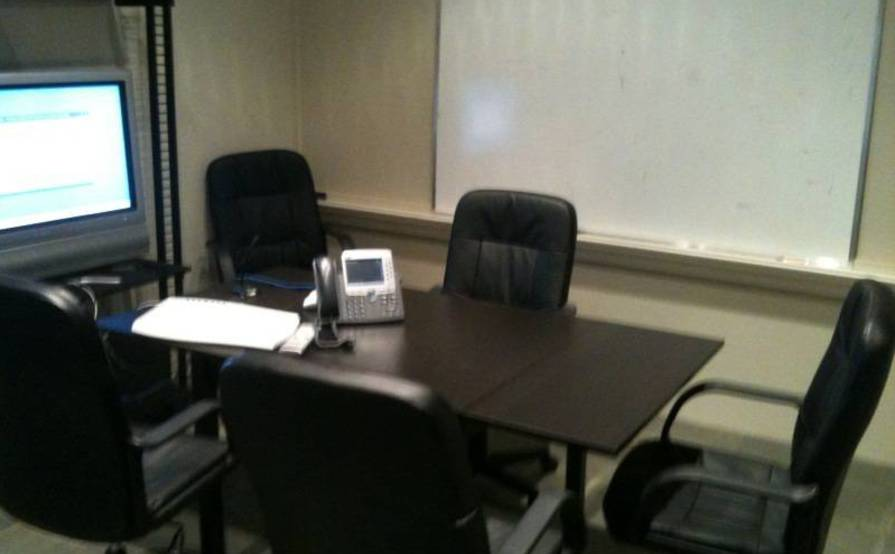 Office desks and conference room