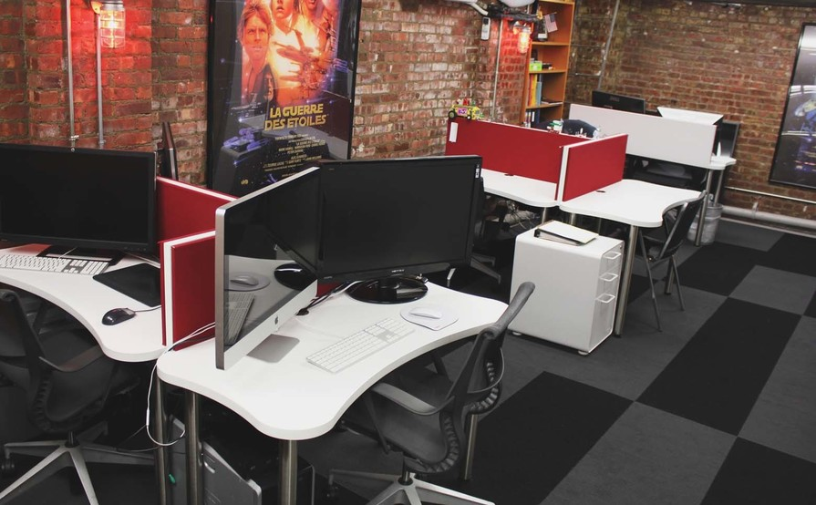 5 Desks (private office) Available in Bright & Modern 4000 sq ft. (2 Floors) Office Space