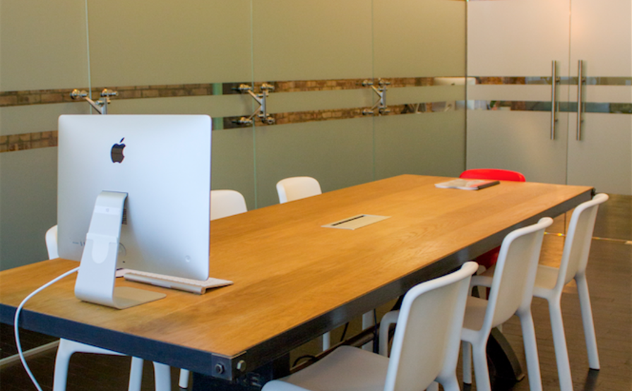 2 Desks in Private Glass Enclosed Office Available in Bright & Modern 4000 sq ft. (2 Floors) Office Space