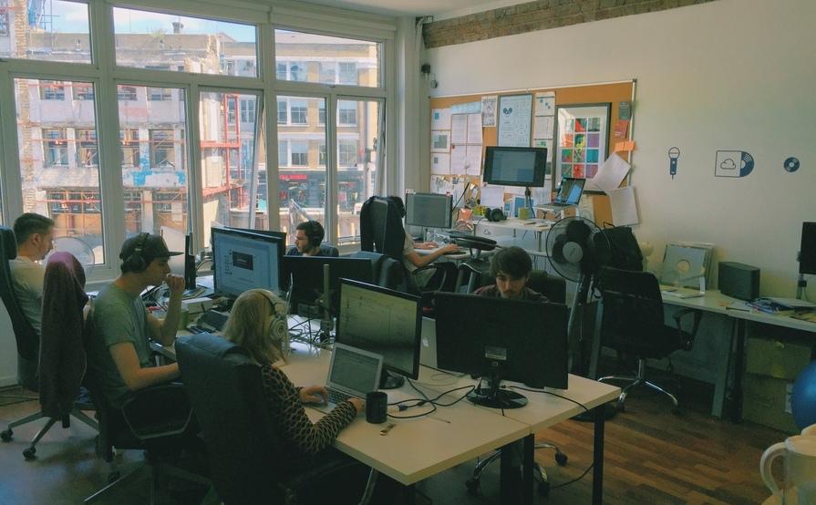 Desks in Shoreditch Office