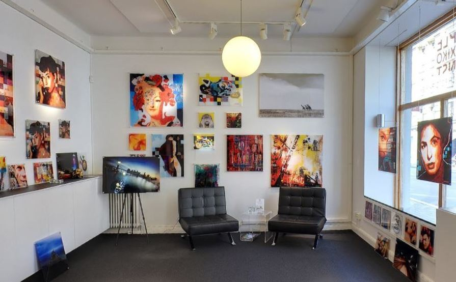 Desk in an Art environment