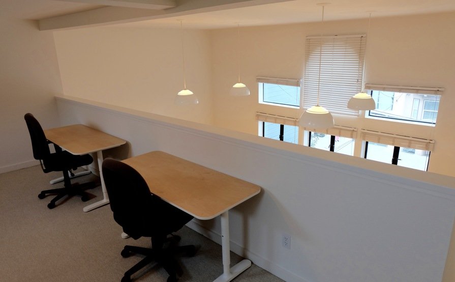 Dedicated desk space for 5 people in our SOMA loft