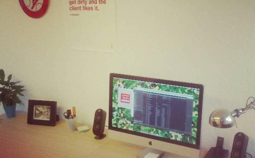 Shared desk for designer