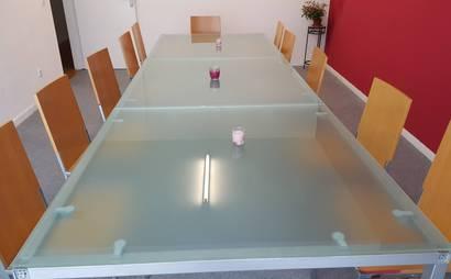 Open Desks in bright workspace