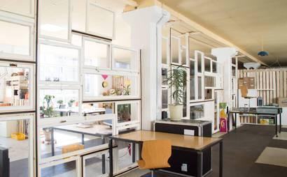 Free desks in creative working environment