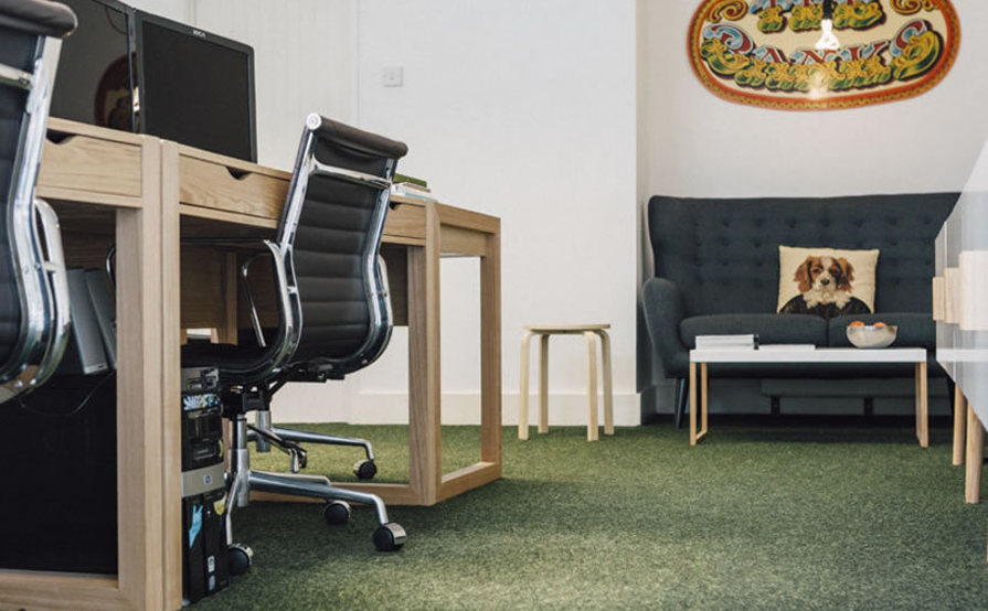 Desks available in well-styled central Falmouth studio.