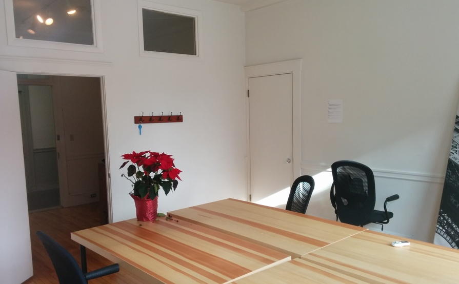 A two-room office we just vacated, still under lease