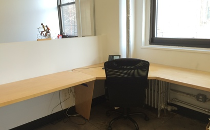 Desk with window facing East