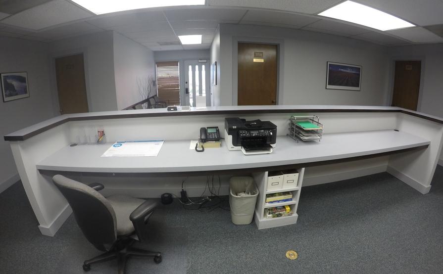Reception Desk, Coworking, Open Workspace