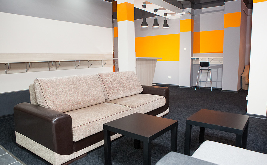 Co-working zone, fixed places, Meeting rooms
