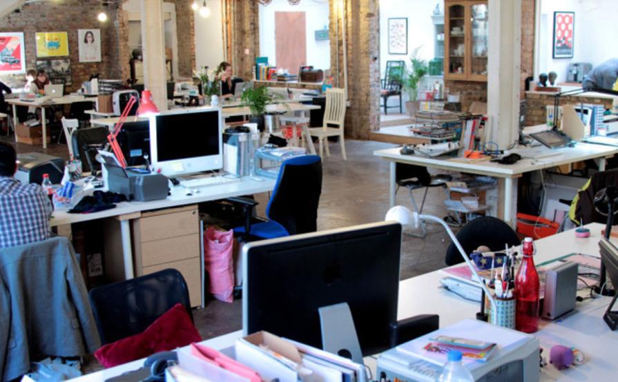 Shared desk in East London
