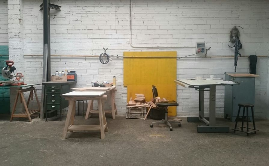 Desk in the makers workshop