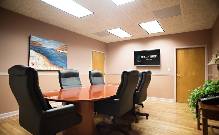 8 person conference room. Piedmont Room at Peachtree Offices at Lenox, Inc.