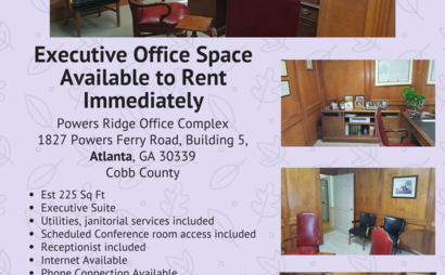 Executive Office Space Available In Cobb (Atlanta Address)