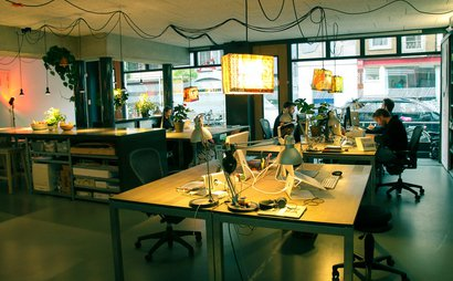 Shared office space in the heart of lively Amsterdam neighborhood De Pijp