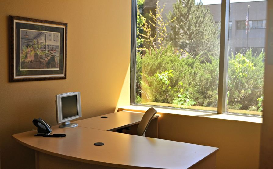"Class A fully furnished  ""Plug and Play"" office with Free Internet, Phone and Parking."