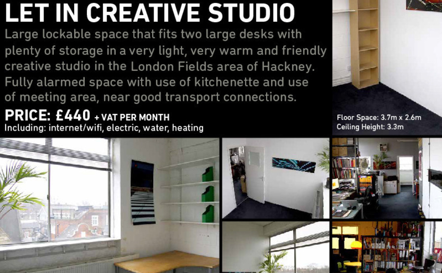 PRIVATE OFFICE SPACE IN A FRIENDLY CREATIVE STUDIO