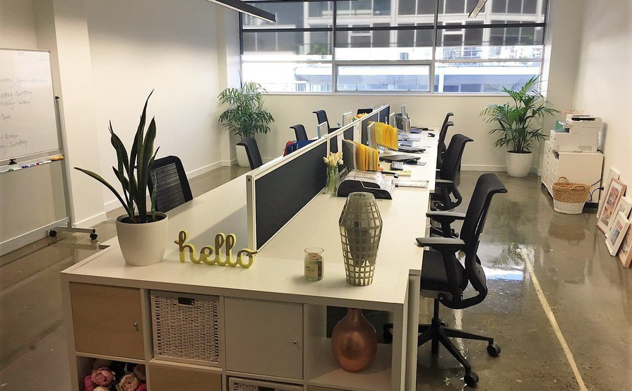 Newly refurbished creative space with two desks for rent in Surry Hills