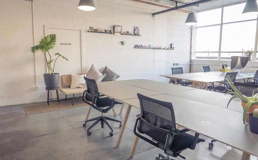 A well-lit 635 sqft space in Studio Three, a co-working space in Dalston Junction, Hackney