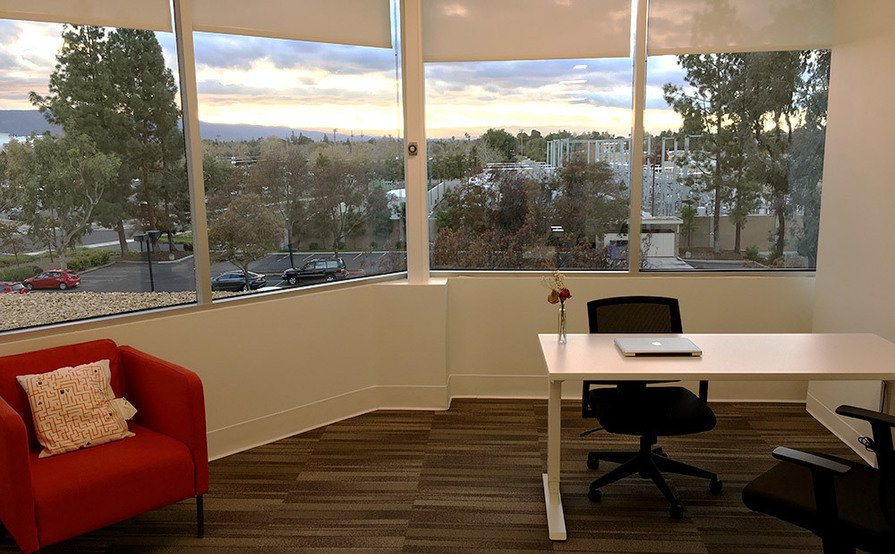 Floating Desk With Window View
