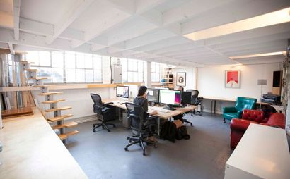 Desk spaces for rent in Hackney Wick Post Production Studio, with super fast internet!