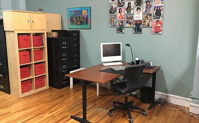 Open Desk for Rent in Creative Talent Agency Office