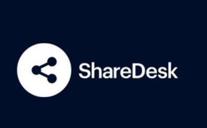 Shared office desk