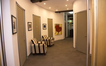 Private office and meeting room.