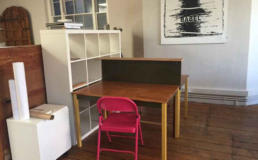 Desk in co-working space