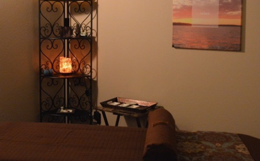fully furnished massage room in spa environment