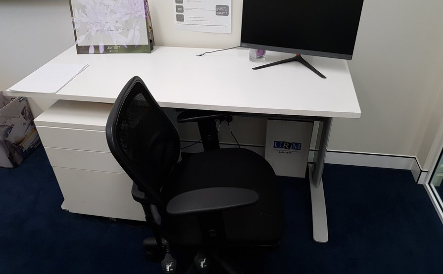 Desk in centrally located office in North Sydney