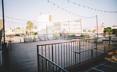 Secret Rooftop Gazebo Workspace Above Hollywood Walk of Fame