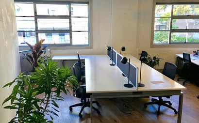 Desks available sharing with creative communications agency