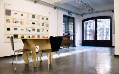 Desk in makerspace