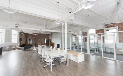 Somerville Studios is located in the building that itself was constructed in 1896 by the Knights of Malta. It has a beautiful wooden staircase hand crafted in the 1800's. We renovated the raw interior space to make it the perfect spot for creatives.