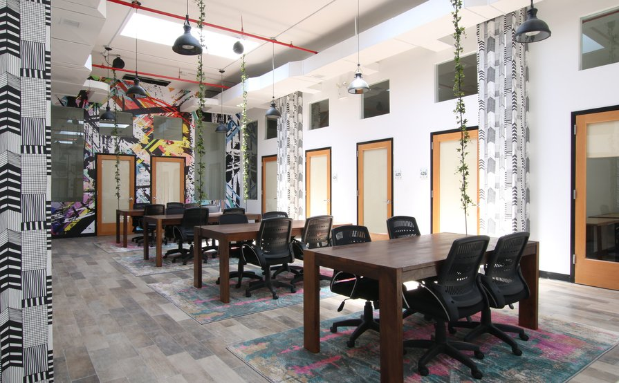 Open Desk Area