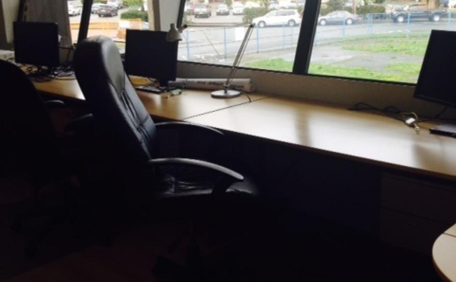 Desk in Tech Company Office