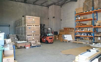 Three pallet size storage in a warehouse in Sunshine Coast - Coolum Beach