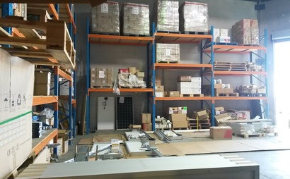 Four pallet size storage in a warehouse in Sunshine Coast - Coolum Beach