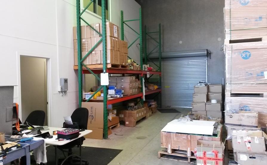 Five pallet size storage in a warehouse in Sunshine Coast - Coolum Beach