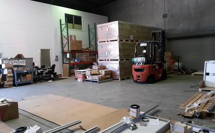 Seven pallet size storage in a warehouse in Sunshine Coast - Coolum Beach