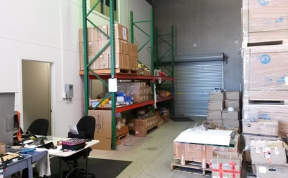 Seven pallet size storage in a warehouse in Sunshine Coast - Coolum Beach