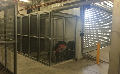 Secure basement storage cage in Niddrie