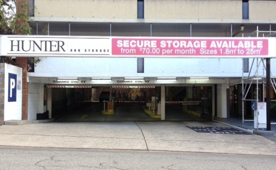 25 sqm Secure Storage with 24/7 Access Newcastle CBD (Car Park Level 2)