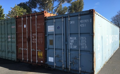 Cheltenham VIC - 40ft shipping container storage in a secure warehouse facility
