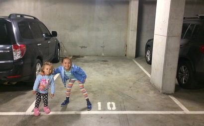 Parking space in secure underground parking