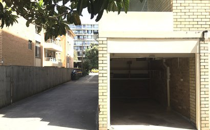 Small undercover garage/storage room