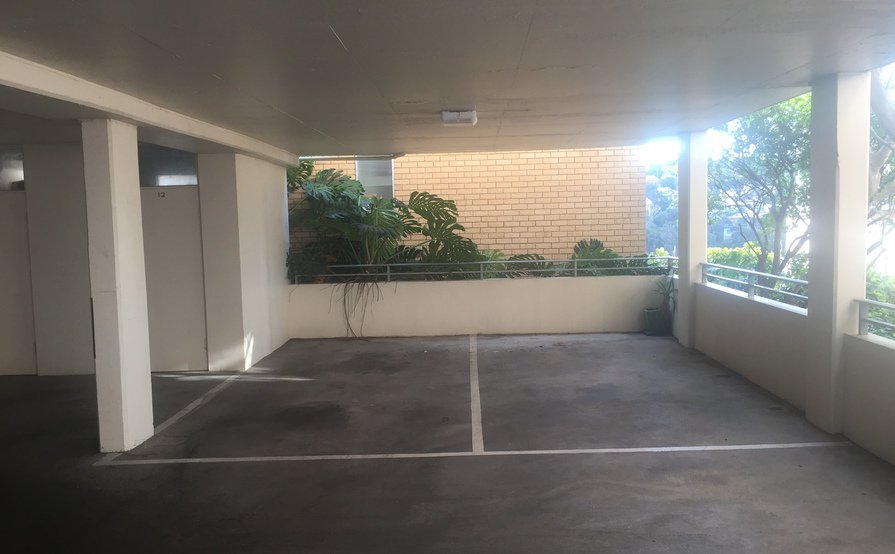 1 covered secure car parking space for rent 3 minutes walk from Mosman Bay ferry stop