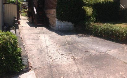 Driveway in Drummoyne - close to bus stop