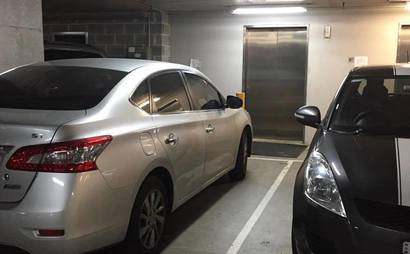 Secure underground car space in central North Sydney (Available now)